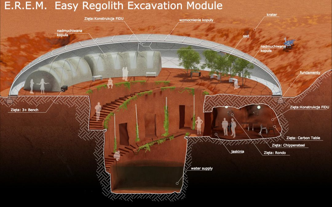 "EXPO 2015: Space Technologies week – ""EREM""  Mars colony concept"